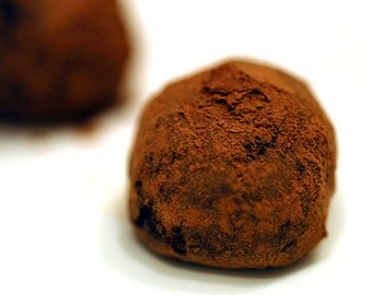 Vegan guilt free chocolate candied orange truffle