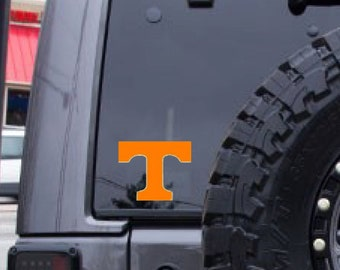 Tennessee decal, FREE SHIPPING, Orange vinyl decal, college decor, dorm room decal #239