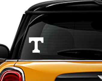 T - Tennessee decal, FREE SHIPPING, White vinyl decal, #Tennessee, football University of Tennessee #240