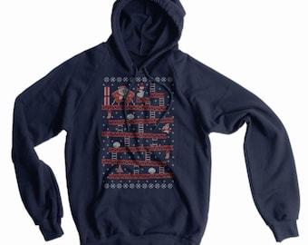 Santa Kong Ugly Sweater American Apparel Hoodie