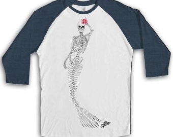 T-shirt UNISEX style Grangla cotton 3/4 with logo styling, exclusive very skull
