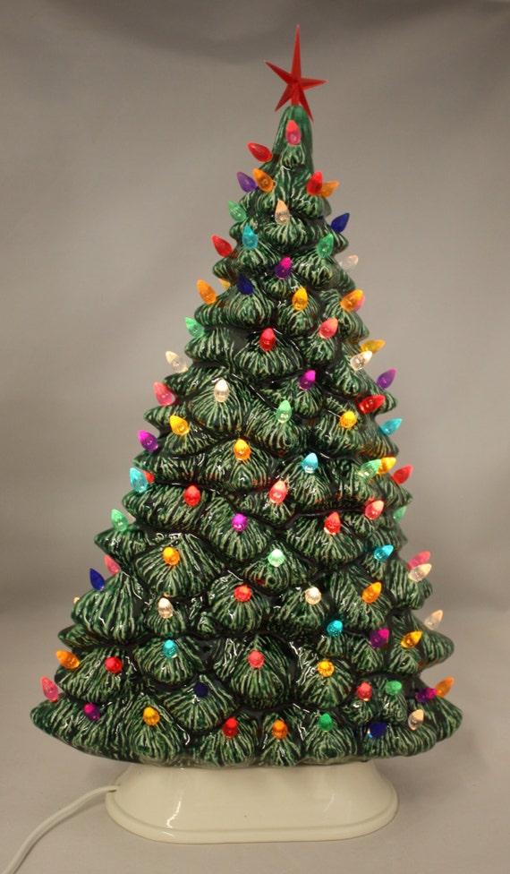 19 ceramic christmas tree window sill tree lighted by - Christmas window sill lights ...