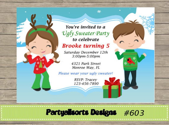 Diy Ugly Sweater Party Birthday