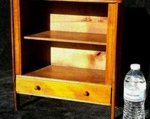 Antique Salesman's Sample Kitchen Cupboard Cabinet Primitive Rustic Farmhouse Display Shelf Doll Furniture Cottage Knick Knack or Spice Rack