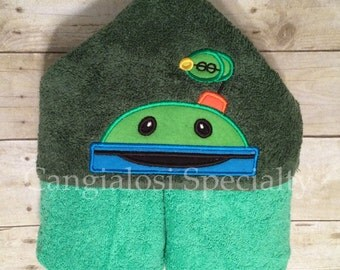 Team Umizoomi Bot Inspired Hooded Towel/Baby/Kids/Adult/Baby Shower/Birthday/Christmas/Easter/Gift/Bath/Pool/Towel/Summer/Beach/Party/Gift