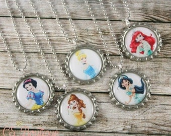 Pretty Princesses Party Favor Necklaces or Keychains
