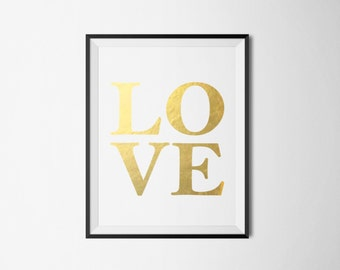 LOVE Foil Print-REAL FOIL