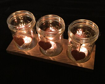 Rustic Candle Holder Centerpiece