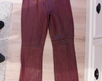 SAKI size 38 leather pants