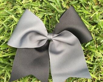 Half Black and Custom Color Softball Bows/ Cheer Bows/ Soccer Bows