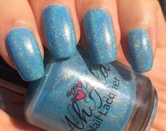 Blue Monster Linear Holographic Polish