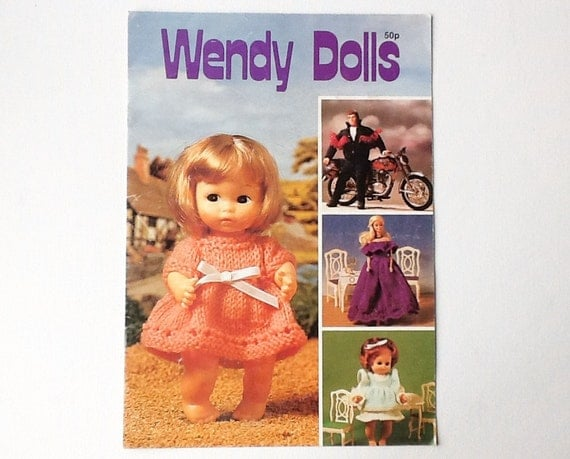 Wendy Knitting Patterns For Dolls : Vintage Wendy Dolls Clothes Knitting Booklet Knitting