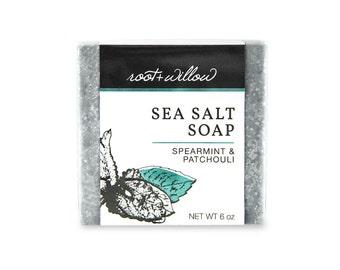Patchouli Soap, Salt soap, Patchouli salt soap, Salt bar, Sea salt, spa bar, spa soap, luxury soap, gentle soap, non drying soap