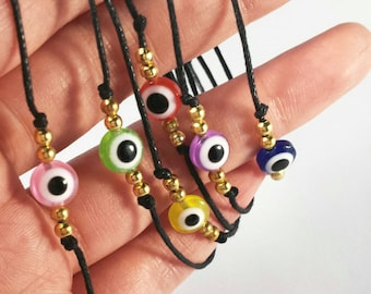 Customize ' Evil eye ' bracelet with a golden touch