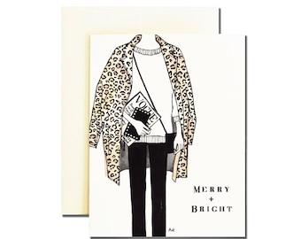 Christmas Card / Holiday Card / Card Best Friend / Fashion Christmas Cards / Best Friend Gift / Fashion Illustration / Christmas Card Wife