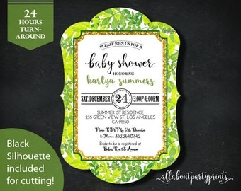 Baby/Bridal Shower Invitation -PDF printable- 24 hours turnaround-B014