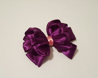 Girl's Two Tone Hair Bow