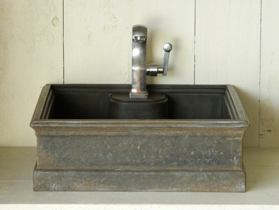 Vessel sink 5 cast iron style concrete sink by atmosphyre for Are vessel sinks out of style