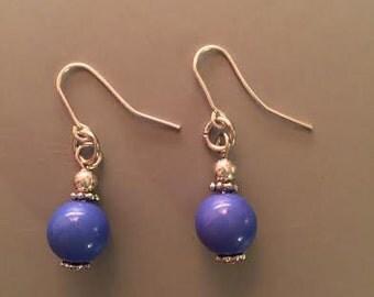 Blue Dangle drop earrings