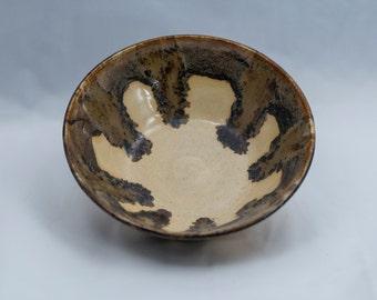 pottery, handmade pottery, handmade, bowl, pottery bowl, handmade bowl, handmade pottery bowl, serving bowl, tan bowl, tan pottery bowl