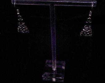 Christmas tree pendant handmade earrings