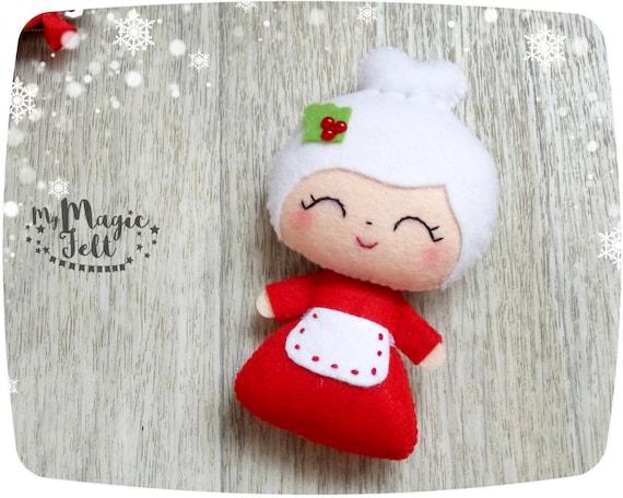 Christmas ornaments Mrs Claus felt Christmas ornament for