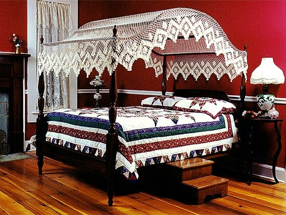 King size single diamond handmade canopy bed top for Mobilia king size bed