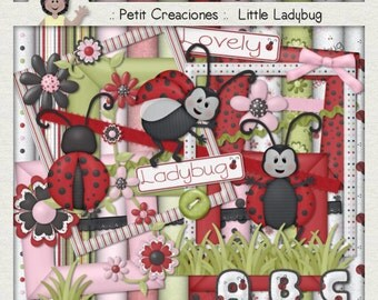 "KIT SCRAPBOOKING DIGITAL ""Little Ladybug"""