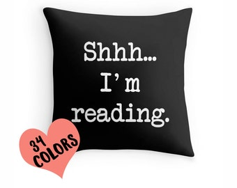 Book Quote Pillow, Reading Pillow, Book Lover Toss Pillow, Reading Throw Pillow, Book Pillow Case, Book Lover Pillow, Book Pillow Cover