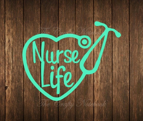 Nurse Life Stethoscope Heart Decal Vinyl Sticker Vehicle