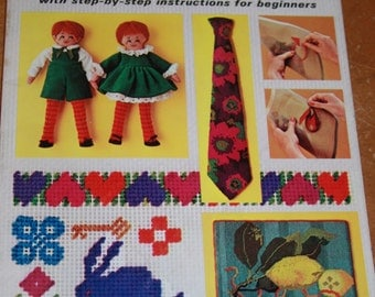 Vintage McCall's Needlepoint Beginners How to book