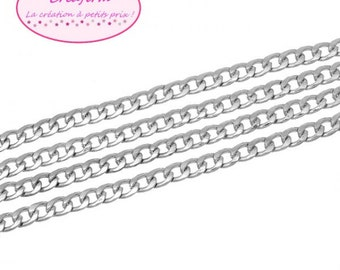 2 m chain Bangle silver Mat 11x8mm