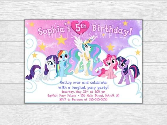 My little pony invitation, My little pony birthday, my little pony invite, birthday invitation, printable invitation, digital download
