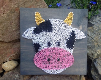 MADE TO ORDER- Cow String Art- Farm Decor