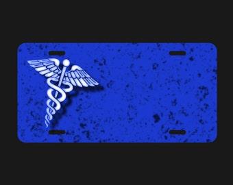 MEDICAL SYMBOL License Plate for Nurses,Doctors, EMT's  - #SP045     Free Shipping on all License Plates!!!