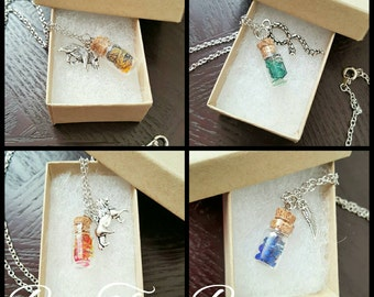 House Points | Gryffindor | Slytherin | Hufflepuff| Ravenclaw | Vial Necklace | Charms | Gifts for her