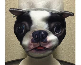 Washable mask / dog  pattern face mask/ Medical face mask/dust mask/mask/surgical mask/half mask/handmade cotton mask/ mouth mask
