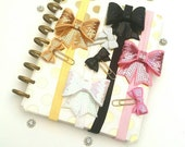 Sequin Planner Book Band and Paper clip set pink gold black white erin condren happy planner gold planner band
