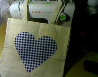 Tote Blue Heart