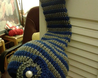 Crochet Elf hat blue