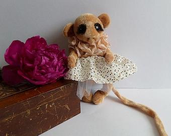 Monkey doll Emily .little soft monkey,Handmade .Soft toys.Stuffed animals.