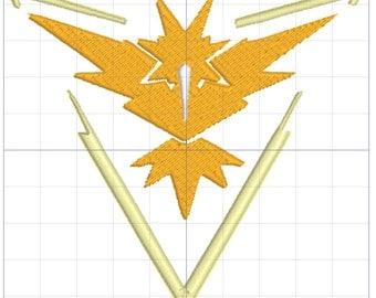 Team Instinct Pokemon Embroidery Design