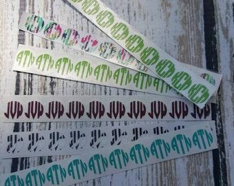 Circle Monogram Nail Decals (set of 5, 10 decals total)