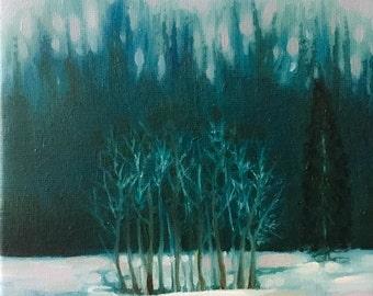 Original Oil Painting, Winter Landscape