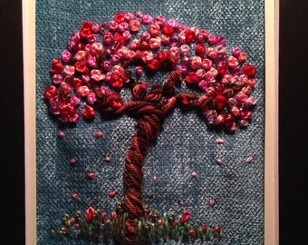 VERY EASY. FREESTYLE Embroidery. A tree for the seasons