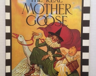The Real Mother Goose Scholastic book vintage copy 1994  Blanche Fisher Wright