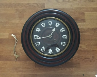 Continental Circular Dial Clock with Porcelain Numerals