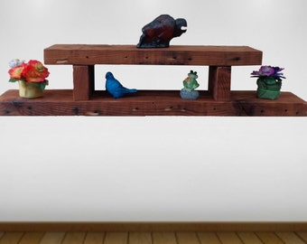 """reclaimed rafter wood shelf , 36"""" long , from a old demolished house-201"""