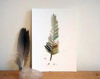 Postcard spring, nature inspiration on paper
