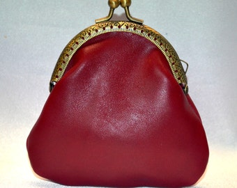 Leather Purse. Coin Purse, Genuine Leather,